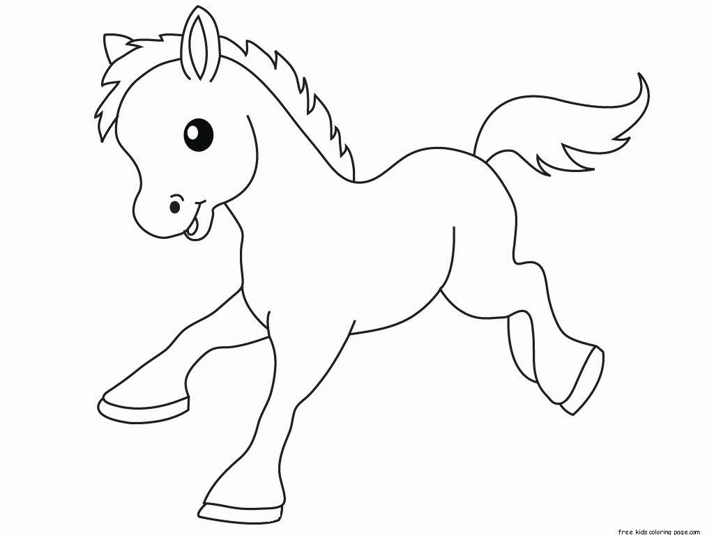 Baby Animals Colouring Pictures New Pony Baby Animals Coloring Pages for Kidsfree Printable