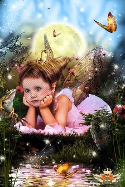 Baby Backgrounds for Photoshop Lovely Magic Fairy Background with Nice Baby Girl for Photo