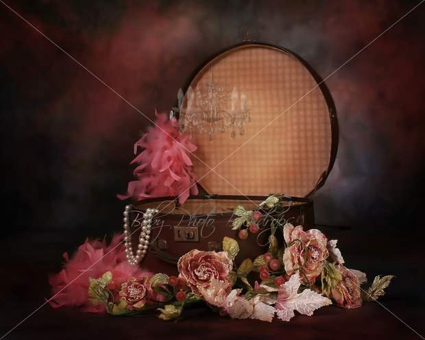 Baby Backgrounds for Photoshop Luxury Vintage Hatbox Digital Backdrop & Layered Background for