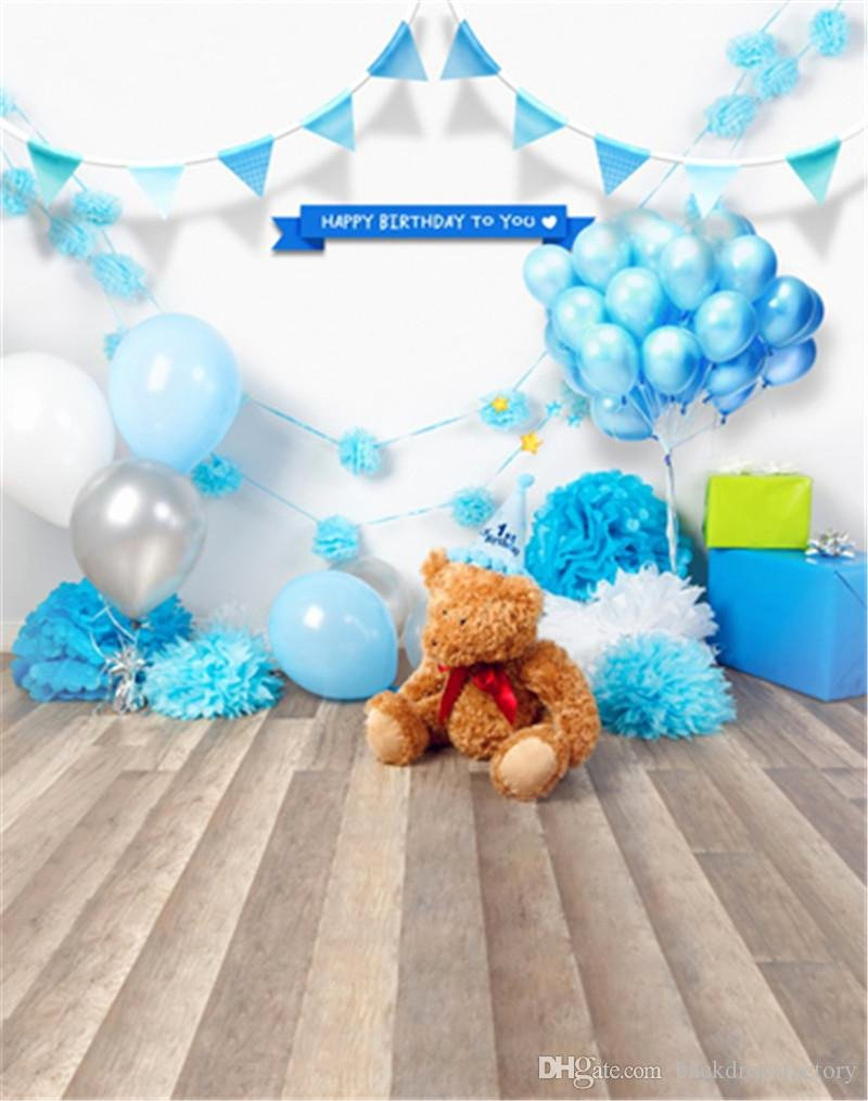 Baby Backgrounds for Photoshop Unique 2019 Newborn Baby Birthday Backdrop Blue Balloons