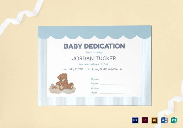 Baby Blessing Certificate Template Elegant Baby Dedication Certificate Template 21 Free Word Pdf