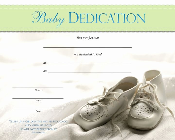 Baby Blessing Certificate Template Inspirational Baby Dedication Certificates