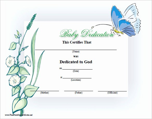 Baby Blessing Certificate Template Luxury Baby Dedication Certificate Template 21 Free Word Pdf