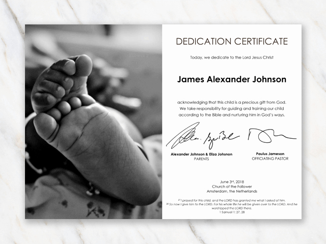 Baby Blessing Certificate Template Unique Baby Dedication Certificate Template for Word [free Printable]