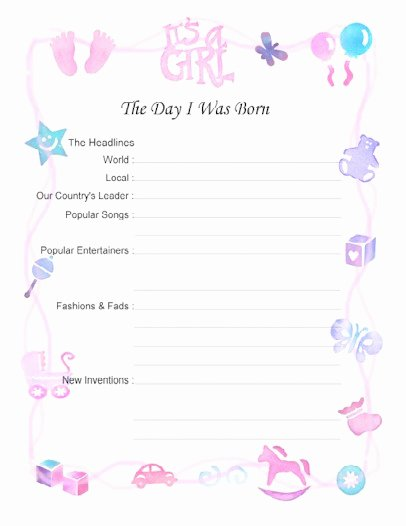 Baby Book Template Pages Awesome Free Printable Baby Book Pages