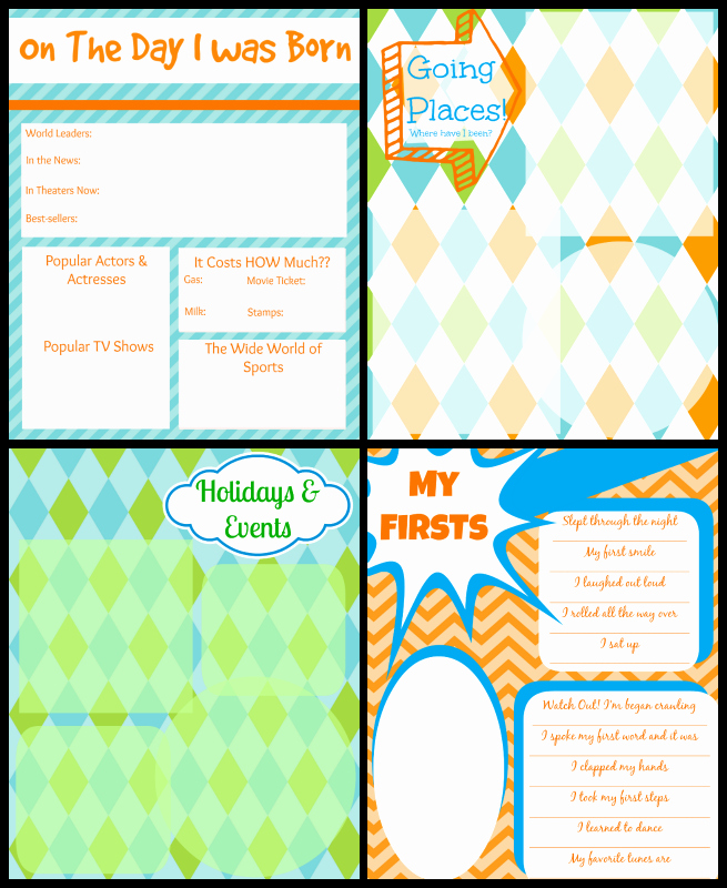 Baby Book Template Pages Awesome Printable Baby Book Pages Free Download