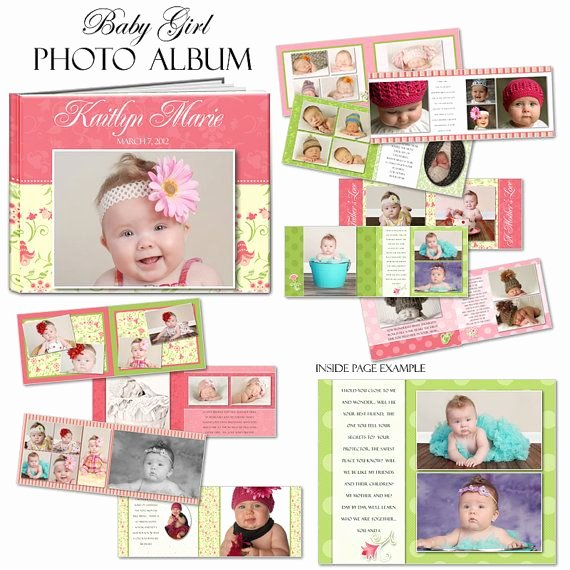 Baby Book Template Pages Best Of Photobook Baby Girl Shop Templates for