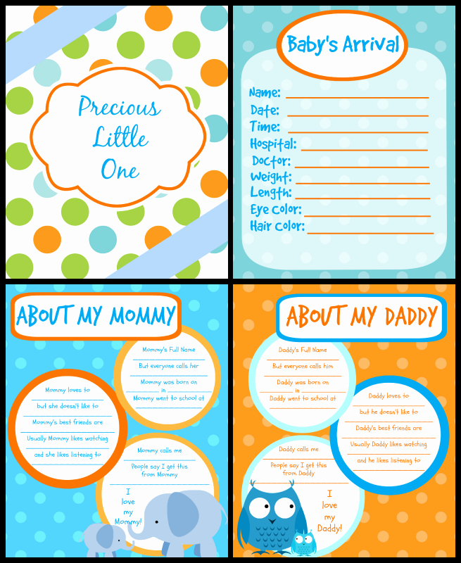 Baby Book Template Pages Unique Printable Baby Book Pages Free Download
