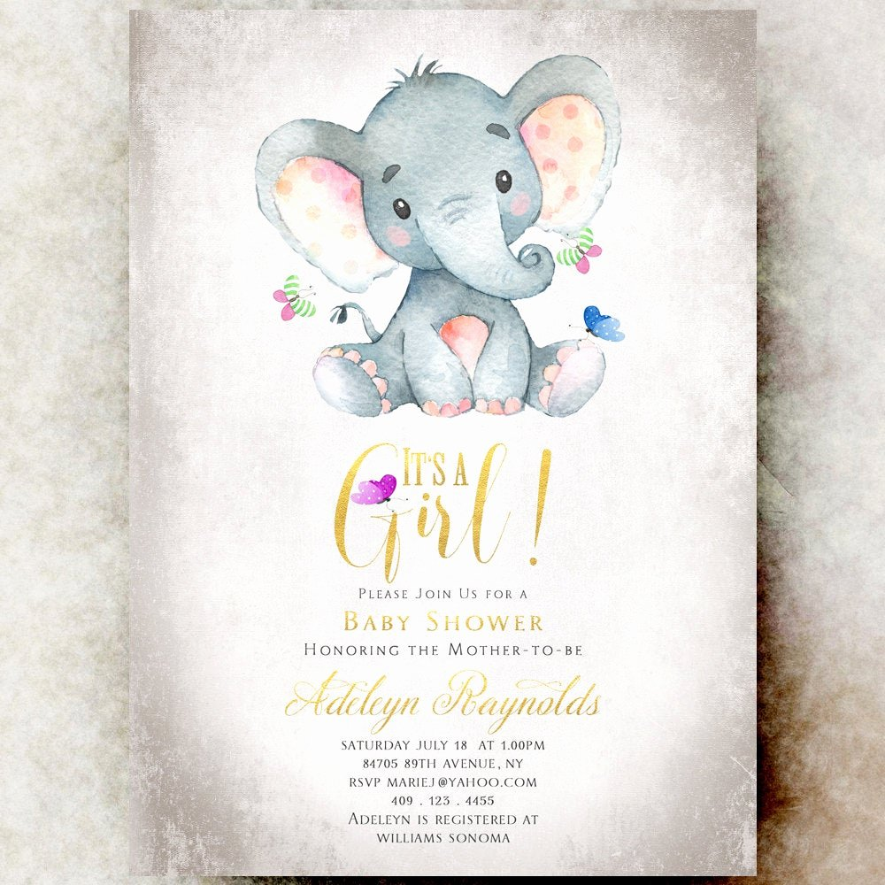 Baby Boy Invitations Free Awesome Elephant Baby Shower Invitation Girl Printable Baby Shower