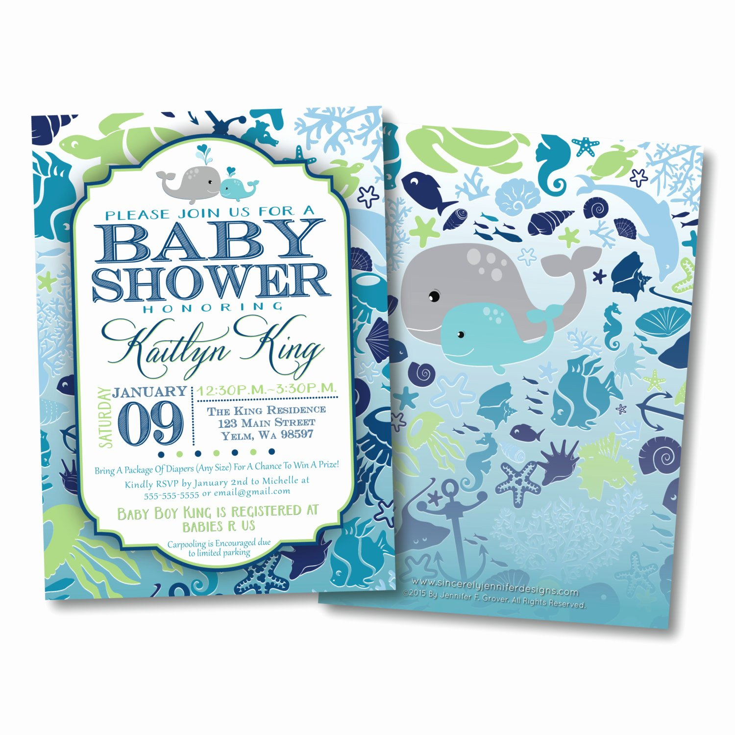 Baby Boy Invitations Free Fresh Under the Sea Baby Shower Invitation Diy by sincerelyjennifer