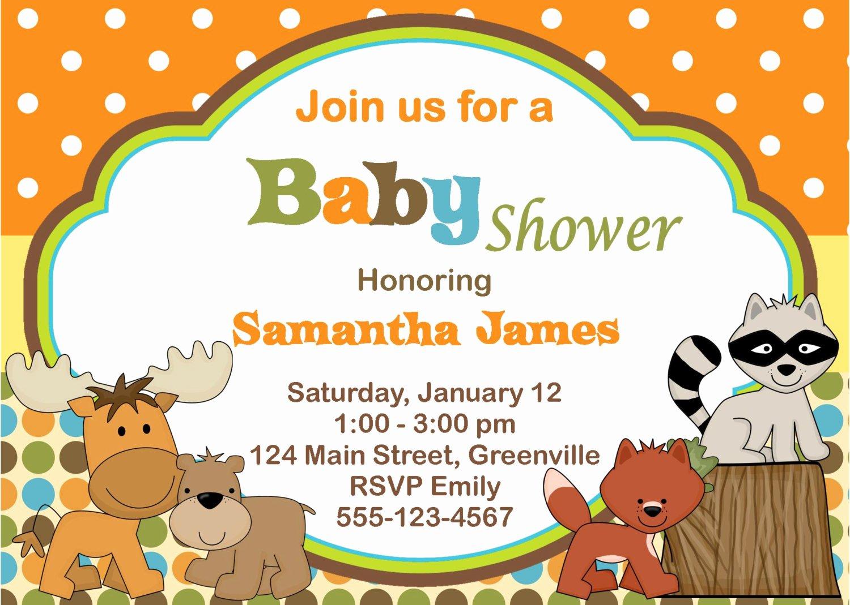 Baby Boy Invitations Free Inspirational Animal Baby Shower Invitations