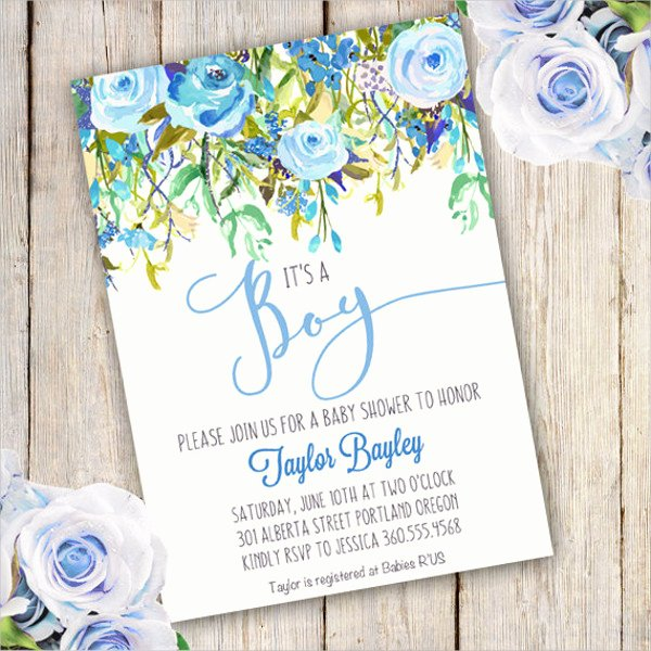 Baby Boy Invitations Free Inspirational Free 48 Baby Shower Invitation Examples Word Psd Ai