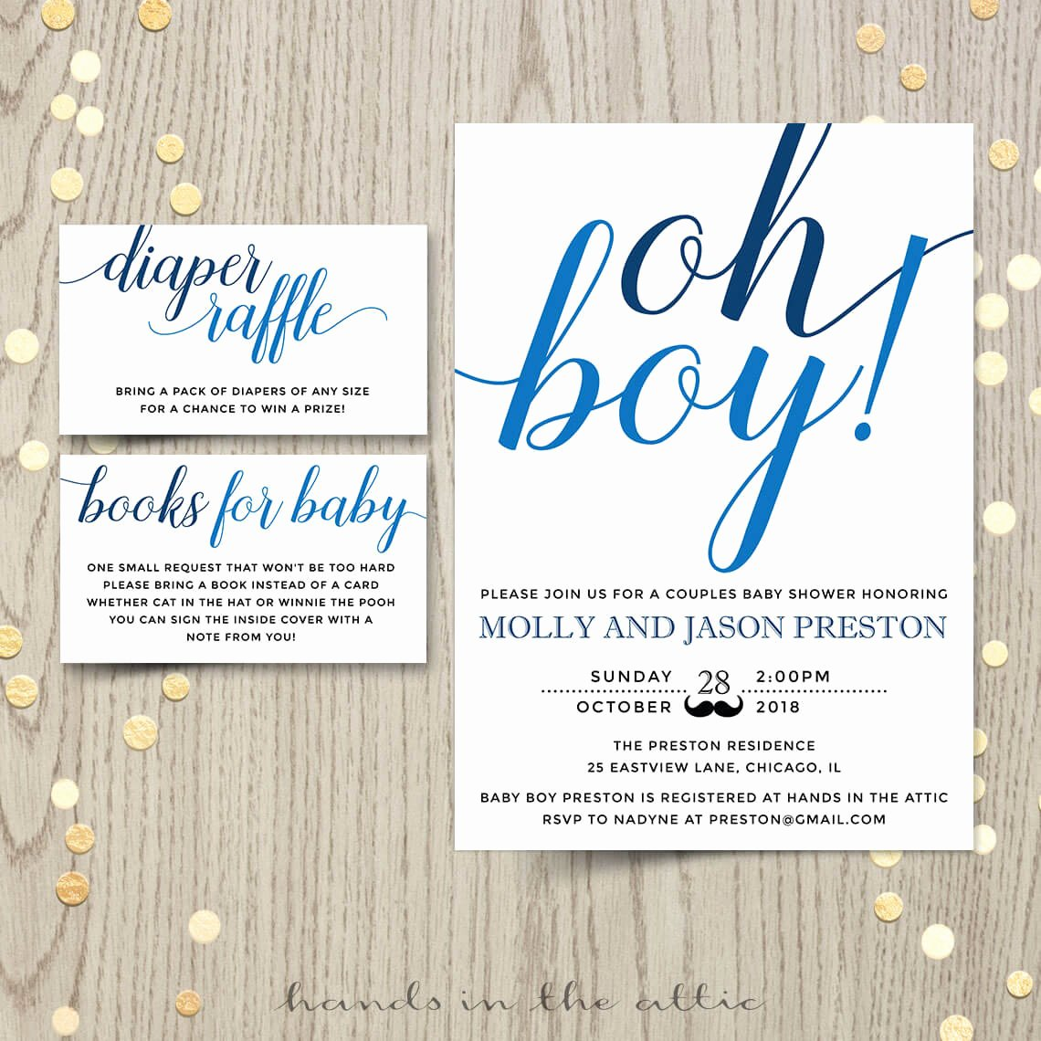 Baby Boy Invitations Free Inspirational Oh Boy Baby Shower Invitation
