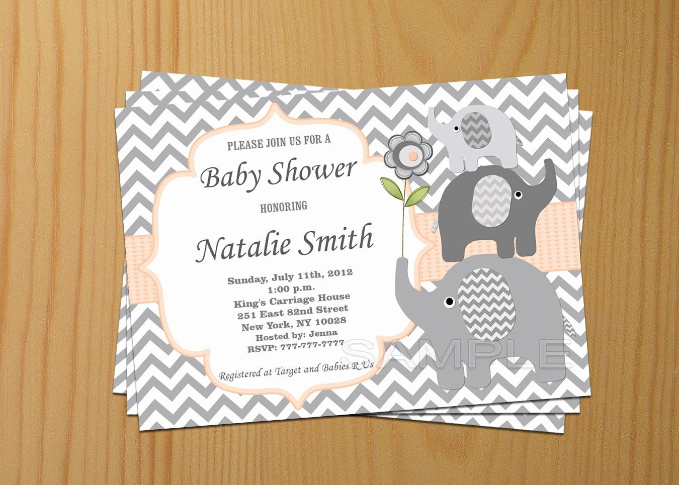 Baby Boy Invitations Free Lovely Editable Baby Shower Invitation Elephant Baby Shower