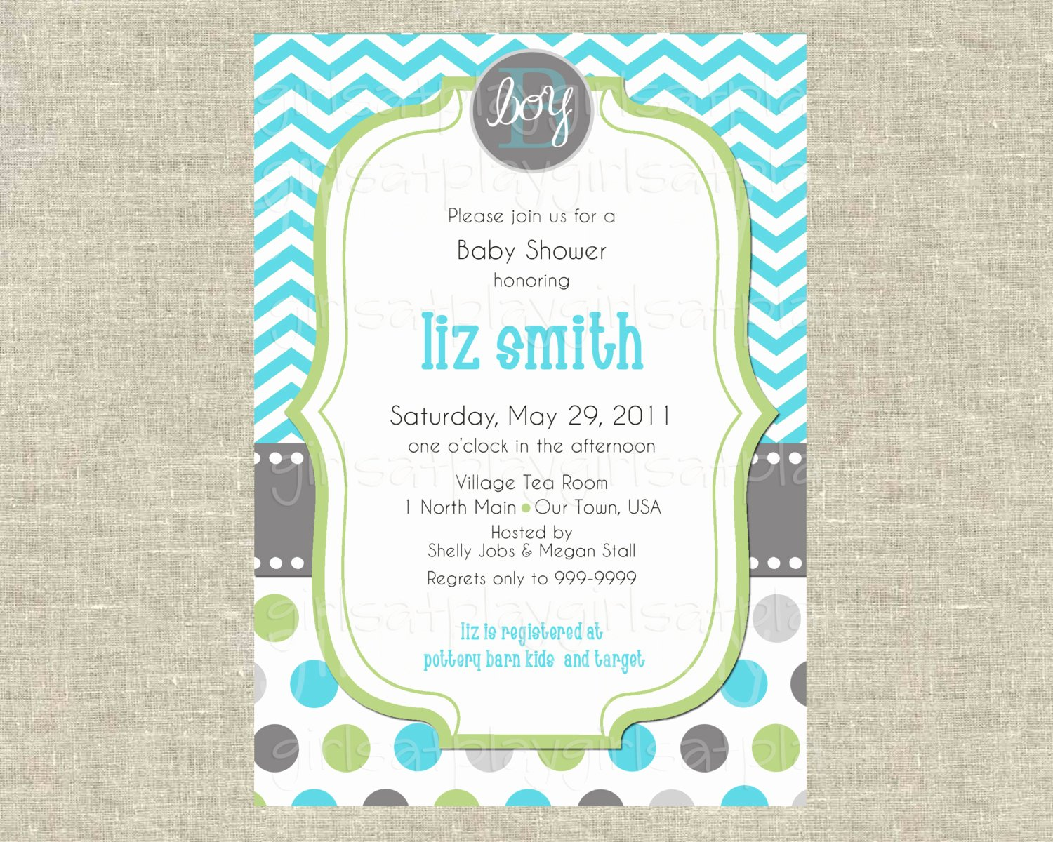 Baby Boy Invitations Free New Baby Boy Shower Invitation Invite Modern Chevron by