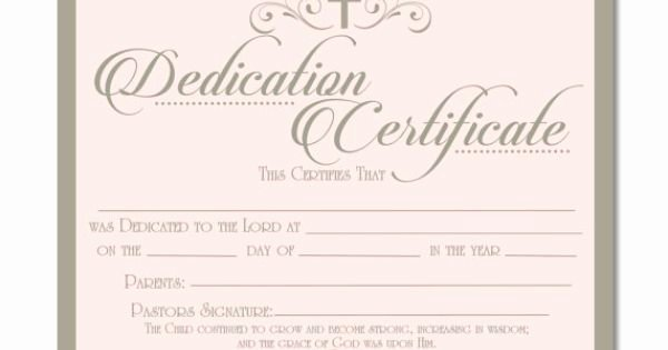 Baby Dedication Certificate Awesome Printable Baby Dedication Certificate Digital by