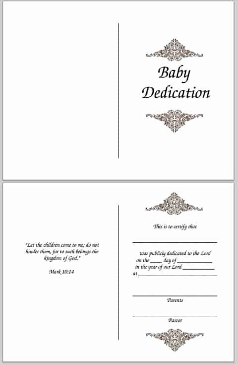 Baby Dedication Certificate Elegant Baby Dedication Certificate Free Printable