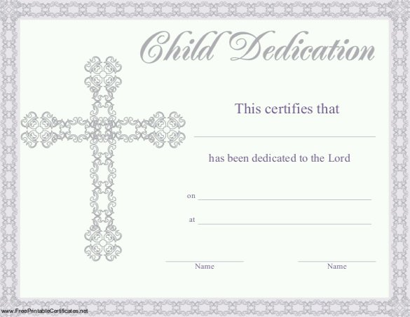 Baby Dedication Certificate Luxury Baby Dedication Certificate Template 21 Free Word Pdf