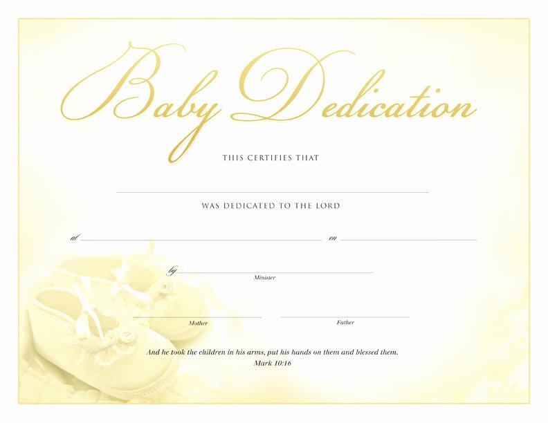 Baby Dedication Certificate Luxury Best S Of Baby Certificate Template Free Printable