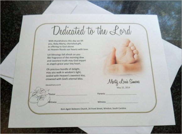 Baby Dedication Certificate Templates Awesome Baby Dedication Certificate 7 Download Free Documents