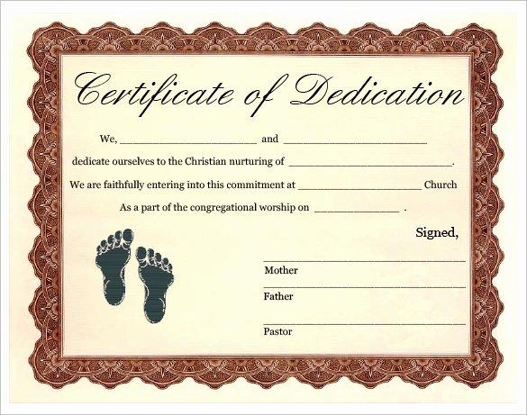 Baby Dedication Certificate Templates Beautiful Baby Dedication Certificate Template 21 Free Word Pdf