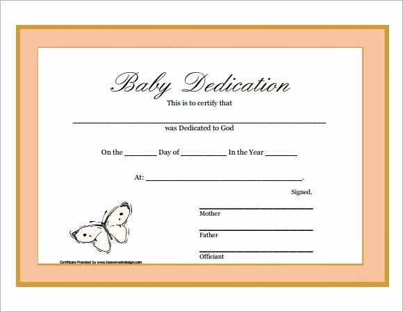 Baby Dedication Certificate Templates Best Of Baby Dedication Certificate Printable