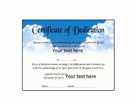 Baby Dedication Certificate Templates Elegant 50 Free Baby Dedication Certificate Templates Printable