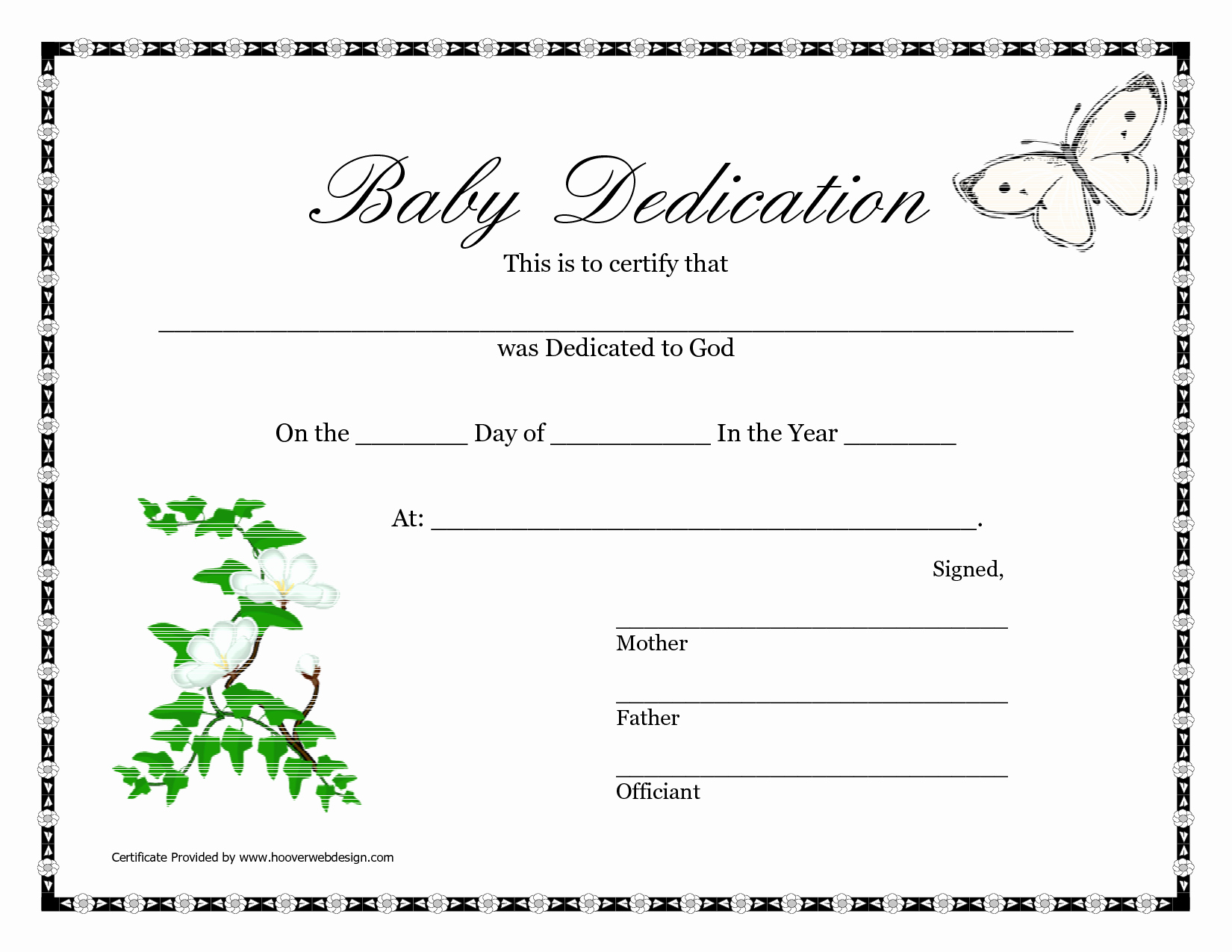 Baby Dedication Certificate Templates Inspirational Best S Of Baby Certificate Template Free Printable