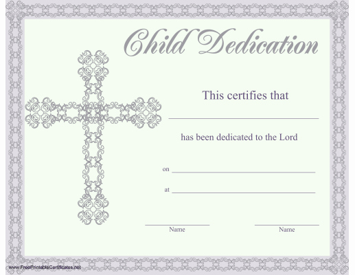 Baby Dedication Certificate Templates Inspirational This Beautiful Religious Certificate Of Child or Baby