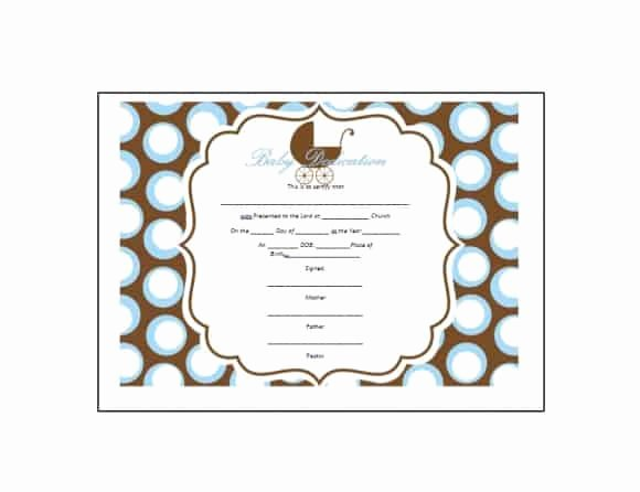 Baby Dedication Certificate Templates Luxury 50 Free Baby Dedication Certificate Templates Printable