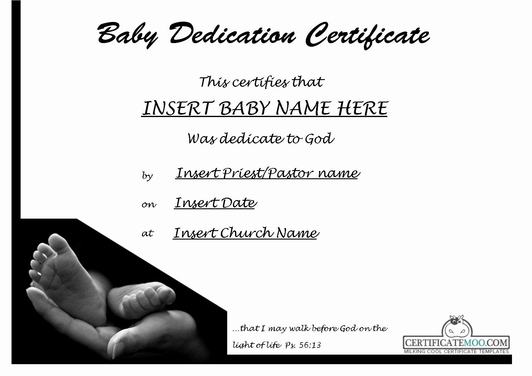 Baby Dedication Certificate Templates Luxury Best S Of Baby Certificate Template Free Printable