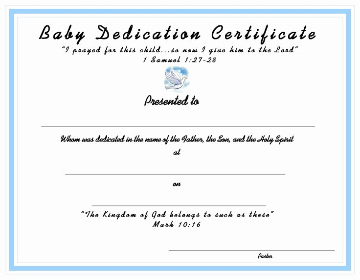 Baby Dedication Certificate Templates New 10 Best Church Certificates Images On Pinterest