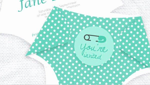 Baby Diaper Invitation Template Lovely 10 Diaper Invitation Templates Free Sample Example