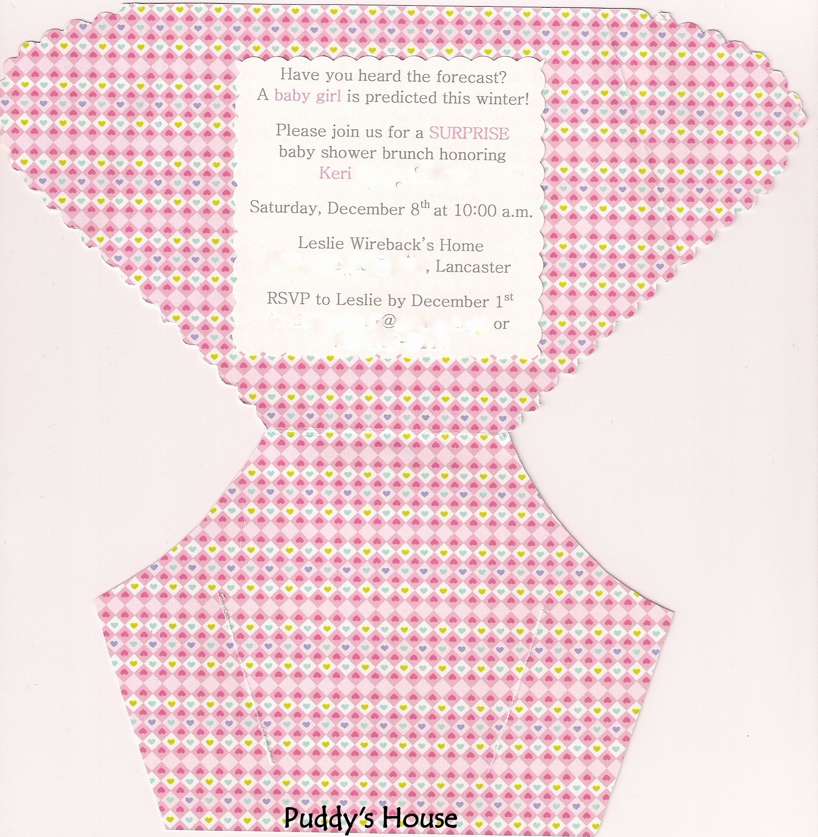 Baby Diaper Invitation Template New Diy Diaper Invitation – Puddy S House