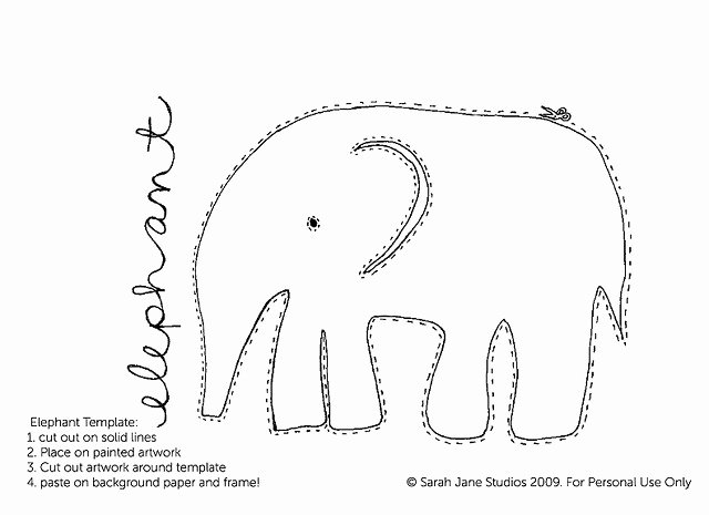 Baby Elephant Cut Out Template Awesome Best 25 Elephant Template Ideas On Pinterest