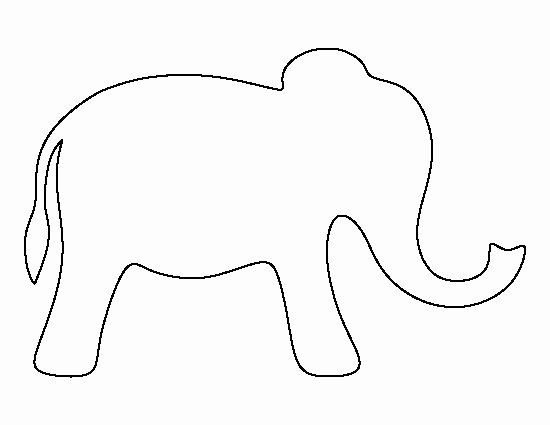 Baby Elephant Cut Out Template Awesome Simple Elephant Pattern Use the Printable Outline for