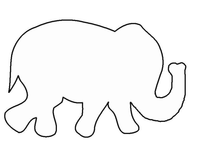Baby Elephant Cut Out Template Best Of Free Elephant Templates