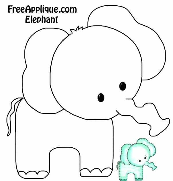Baby Elephant Cut Out Template Elegant Elephant Esie or Burp Cloth Decorating Template