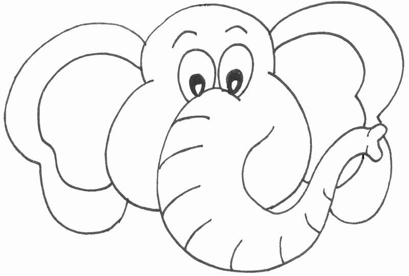 Baby Elephant Cut Out Template Elegant Template for Elephant