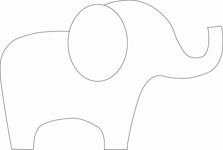 Baby Elephant Cut Out Template Fresh 25 Best Ideas About Elephant Outline On Pinterest