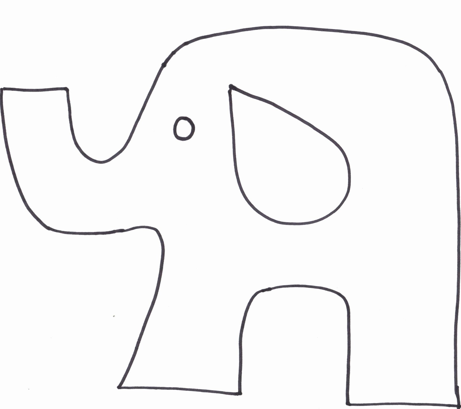 Baby Elephant Cut Out Template Fresh Animal Cutouts Printable