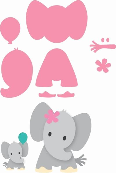 Baby Elephant Cut Out Template Unique Col1384 Eline S Elephant Marianne Design Collectables