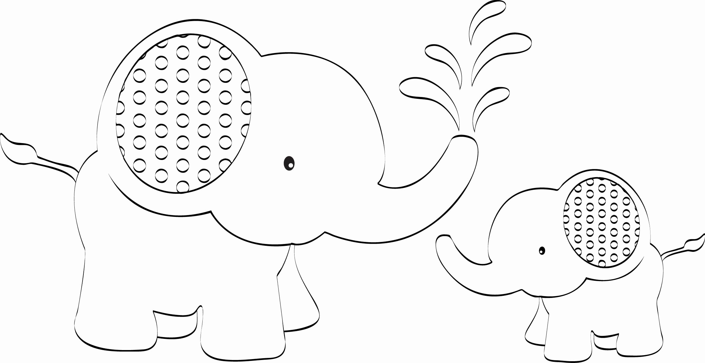 Baby Elephant Cut Out Template Unique Digital Stamps Stamp It Cards 8