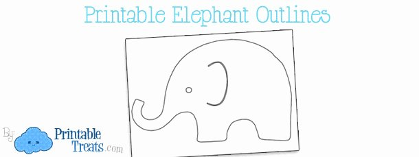 Baby Elephant Cut Out Template Unique Printable Elephant Outline — Printable Treats