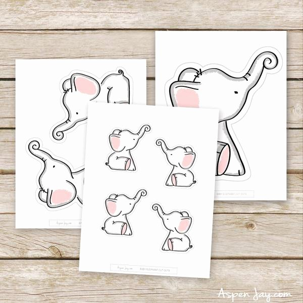 Baby Elephant Cut Outs Awesome Pink Elephant Cut Outs – aspenjay