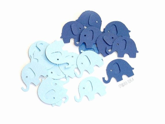 Baby Elephant Cut Outs Best Of 120 Mixed Blue Elephant Cut Outs Confetti Set Of 120 Pcs