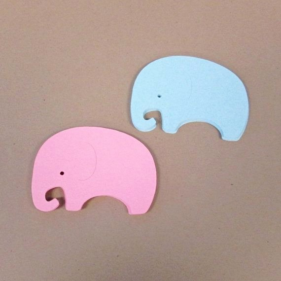 Baby Elephant Cut Outs Best Of Elephant Cut Outs Gender Reveal or Baby Shower Pink