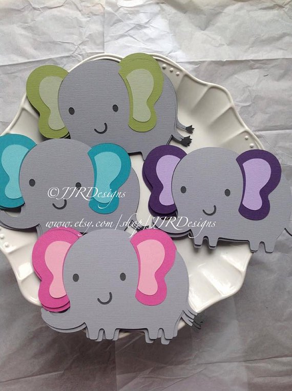 Baby Elephant Cut Outs Elegant 4 5 Elephant Cut Outs Elephant Die Cut Baby Shower
