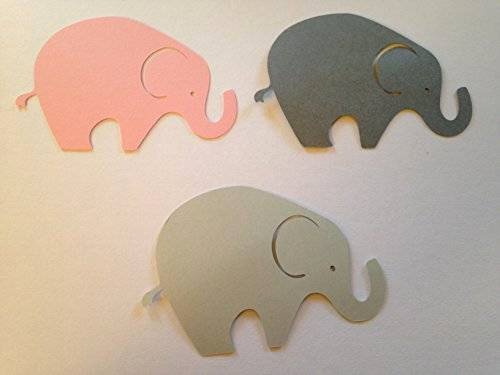Baby Elephant Cut Outs Elegant Amazon 24 Light Gray Dark Gray Pink Elephant Cutout 3