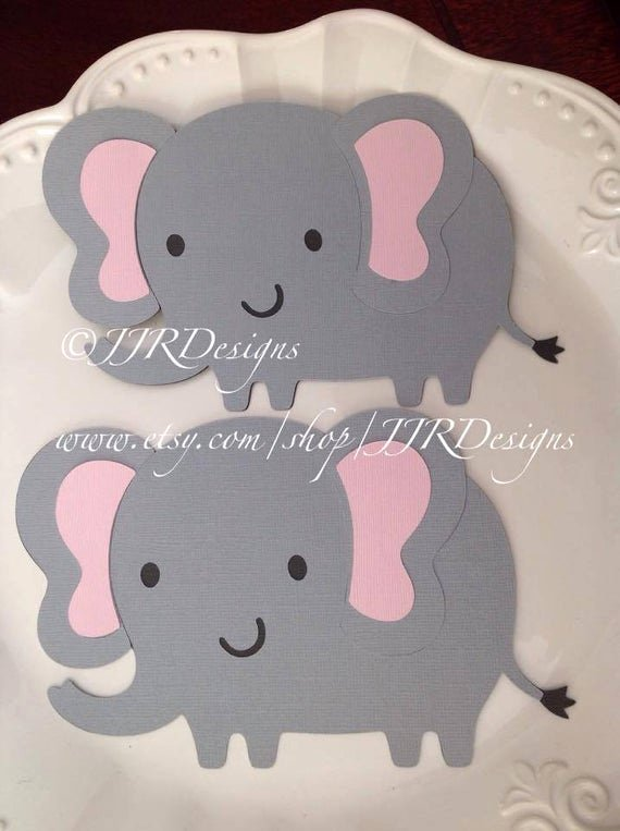 Baby Elephant Cut Outs Inspirational 4 5 Elephant Cut Outs Elephant Die Cut Baby Shower